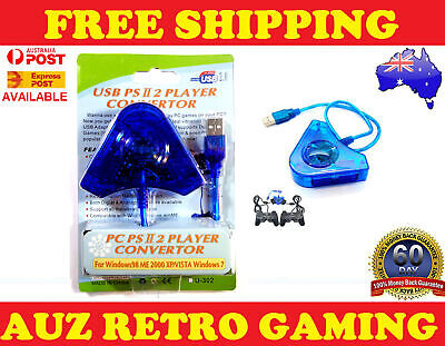 Dual PS1 PSX PS2 to PS3 PC USB Game Controller Adapter Converter Cable