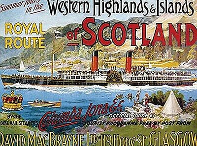 Western Highlands Of Scotland Steamer Ferry fridge magnet   (og)