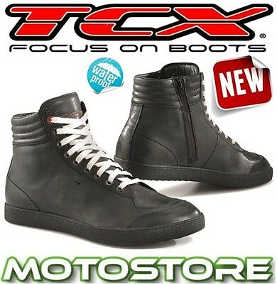 ad627997b589d DUCATI THEME TECHNICAL Motorcycle Short Ankle Boots Black by TCX ...