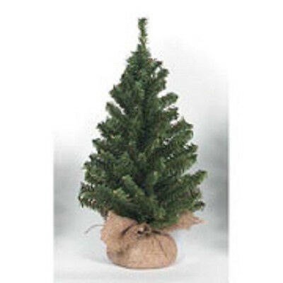 Darice Artificial Canadian Pine Tree with Burlap Base 15 inch Tabletop 108 tips