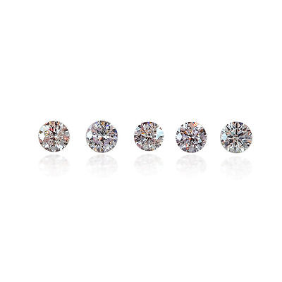Pink Diamond Lot Melee Matching 5 Loose Natural Round Cut Diamonds 0 .20 Ct 2 mm
