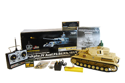 New 1:16 Heng Long Panzer IV Ausf F2 Remote Control Airsoft Tank Smoking Sounds