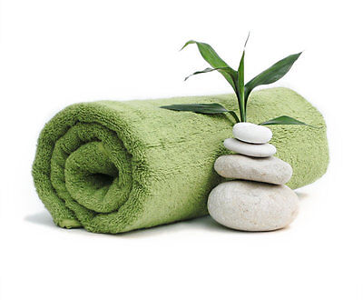 BRAND NEW 3 PIECES 100% COTTON LIME EXTRA LARGE BATH TOWEL 75 * 154cm