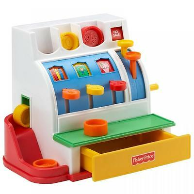 Fisher Price Cash Register Shopping Till Pretend Toy Money Coins Role Play Set