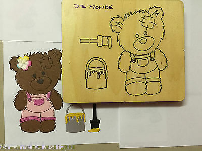WOODEN DIE CUTTER-PAINTER Bear, Use in Sizzix Big Shot, VERY RARE!!!