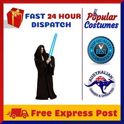 Star Wars Jedi Sith Knight Hooded Cloak Robe Adult Cape Halloween Mens Costume