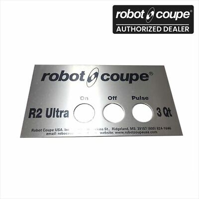 Robot Coupe 407670 R2 R2N Ultra 3 Quart Food Processor Front Data Plate Genuine