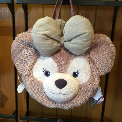 Disney Shellie May Duffy Bear Face Plush Tote Bag Handbag Shoulder Bag Large