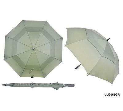 "KS Brands UU0066 30"" Wind Resistant Double Canopy Auto Golf Umbrella Green New"