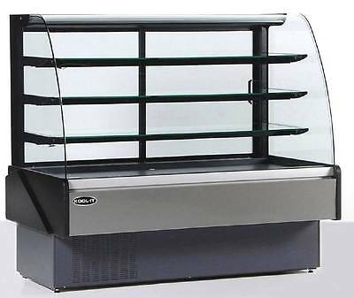 "Kool-it HydraKool KBD-CG-80-S 78"" Refrigerated Curved Glass Bakery Display Case"