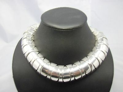 massive Statement Kette / Collier Sterling Silber 925 punziert 287g Mexico