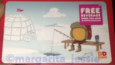 """Dunkin' Donuts Coffee Gift Card """"ice Fishing"""" No Value Donuts New 2015"""
