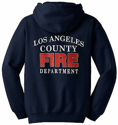 Los Angeles County Fire Department Hooded Sweatshirt Arched Logo 2/Color