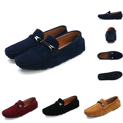 Fashion Men Suede Driving Moccasin Casual Loafers Slip on Leisure Shoes YDN8878