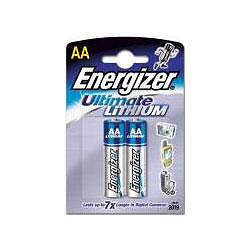 Energizer L91 Ultimate Lithium Battery AA Size High Power 2 Pack New