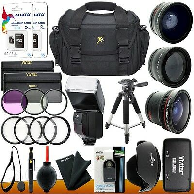 Nikon D3200 D3300 D5500 D5300 5200 DSLR Camera Everything you need Accessory Kit