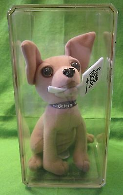 Taco Bell Chihuahua w/Free Tacos Sign in Mouth in Collectors Box Plush