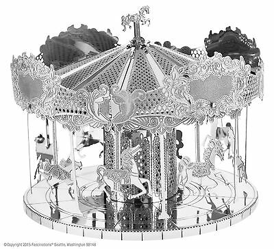 Fascinations Metal Earth Works 3D Laser Cut Steel Model Kit Merry Go Round