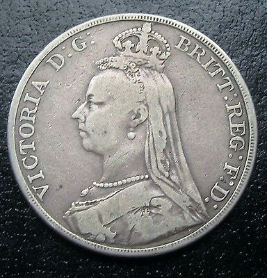 Great Britain 1890 One Silver Crown As Pictured G2122