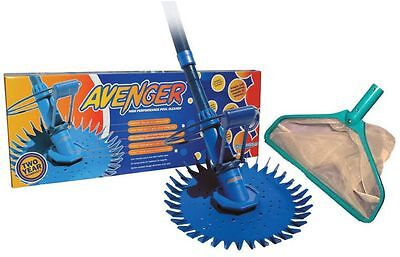Avenger Pool Cleaner. ALL SURFACE Pool Cleaner. 2 Year Warranty. BONUS LEAF RAKE