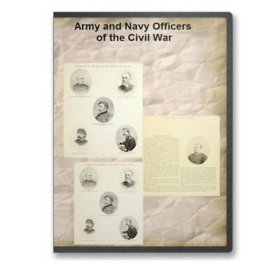 Army and Navy Officers of the Civil War (Illustrated) Book Collection on CD B455