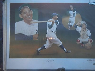 Yogi Berra Lithograph By C. Paluso Signed By Berra & Paluso PSA/DNA Certified