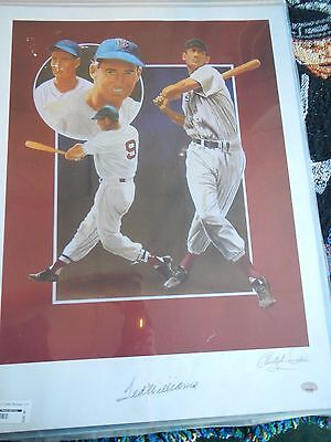 Ted Williams Lithograph By C. Paluso Signed By Williams & Paluso PSA/DNA Cert
