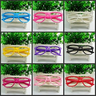 NEW Retro Nerd Glasses Frame Clear No Lens Eyewear Boy&Girl Kids Party Gifts