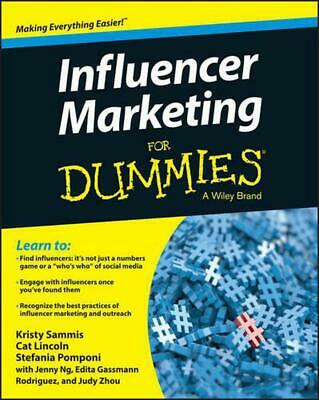Influencer Marketing for Dummies by Kristy Sammis (English) Paperback Book Free