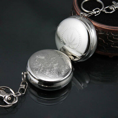 Stainless Steel Round Pocket Cigarette Ashtray With Key chain Portable hot Gift