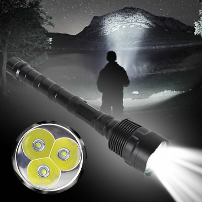 Underwater 200m 8000Lm 3x XM-L2 LED Diving Scuba Flashlight Torch 18650+Charger