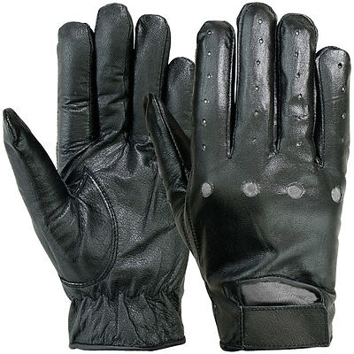 Hatch SG22S Black Leather Driving Gloves Men's X-Small Airsoft