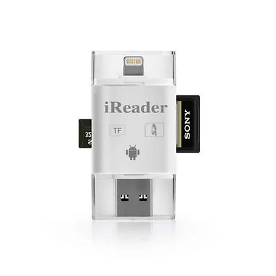 iDrive iReader i-Flash Micro SDHC SD USB Drive Memory Card Reader For iPhone iOS