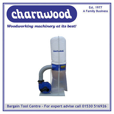 CHARNWOOD W691 Woodworking Dust & Chip Extractor, 1500w, 2hp, 148 Litre Capacity