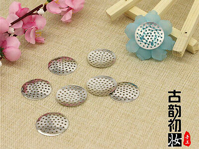 200 Round Metal Beading Pad with Holes 18mm Brooch Back Beadwork