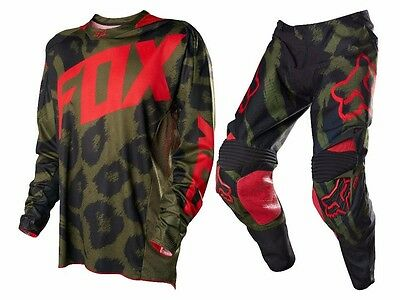 Fox Racing 360 Limited Edition Marz Pant Jersey Combo Green Red Men's Motocross