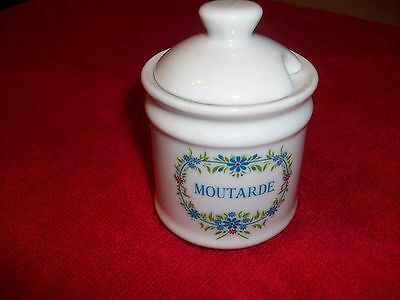 French Mustard Pot. Marked Motarde.