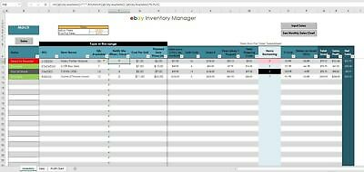 2018 eBay Sales & Inventory Tracker (Excel / PC Windows / Office ) USER FRIENDLY