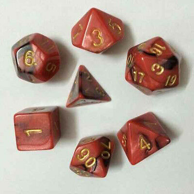 7pcs/Set TRPG Games Dungeons & Dragons D4-D20 Multi-sided Dices LAVA RED