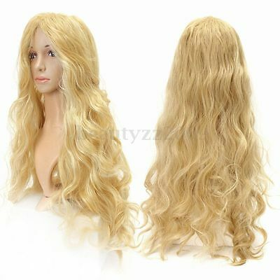 Fashion Wig Long Sexy Wavy Women's Mix Blonde Cosplay Party Curly Natural Wigs