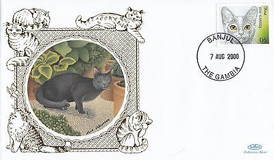 (80908) CLEARANCE Gambia Benham FDC Cats - 7 August 2004