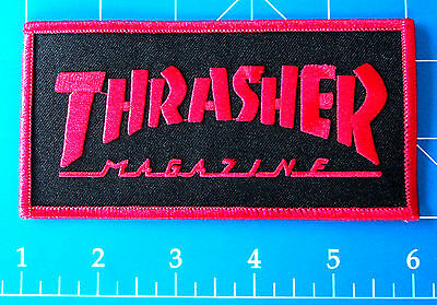 Thrasher Magazine Logo Patch Red, Dress Up Yo Raggedy Ass!