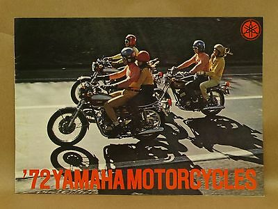 Vtg 1972 Yamaha Motorcycle Full Line Street Bike Enduro Brochure Features Specs