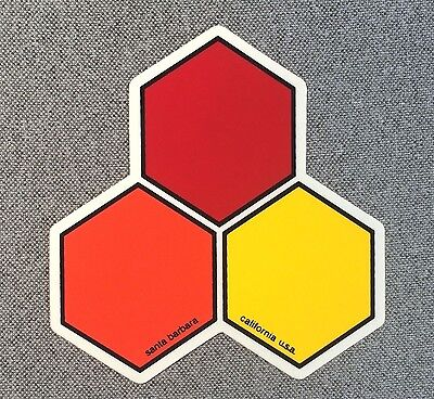 Channel Islands Surfboards Curren Hex Sticker Small 2.75in si