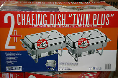 2 x CHAFING DISH 2 x GN 1/1 Container - 16 Parts incl. Serving spoon