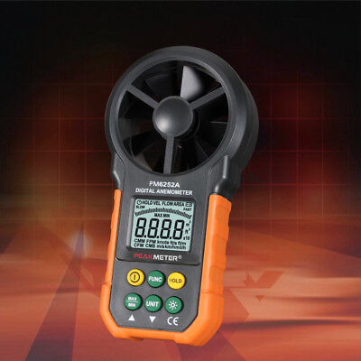 LCD Digital Anemometer Wind Speed Meter Air Flow Measuring Tester HYELEC MS6252A