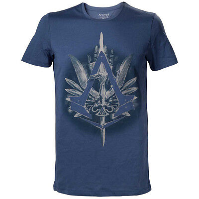 ASSASSIN'S CREED Syndicate Brotherhood Crest Logo with Cane T-Shirt, XL, Blue