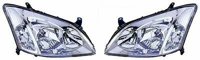 Toyota Corolla 2002 - 2004 Headlight Headlamp   1 X Pair Right And Left O/s N/s