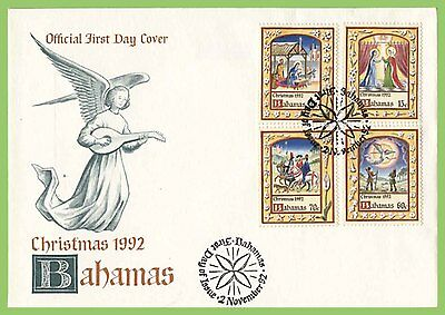 Bahamas 1992 Christmas set First Day Cover