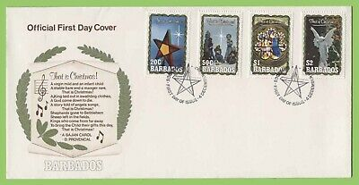 Barbados 1990 Christmas set on First Day Cover